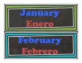 Calendar Months/ Days of the Week (Dual Language)