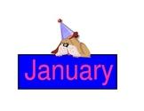 Calendar Months Dog Theme