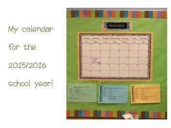 Calendar Months  - Water Colors
