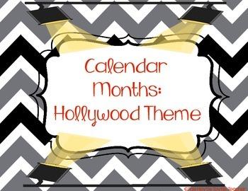 Calendar Months (Hollywood/Movie Theme)