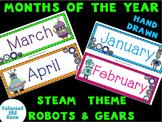 Calendar Months Robot Theme