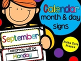 Calendar Months and Days Signs