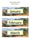 Calendar Months and More - Dinosaur Style #1