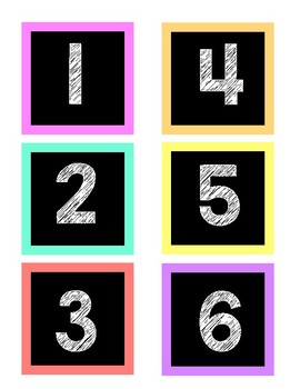 Calendar Months and Numbers