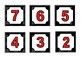 Calendar Months and Numbers labels (4 color sets)