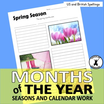 Months of the Year {worksheets} {posters} {English worksheets}