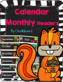 Calendar - Months of the year & Days of the Week - Chalkbo