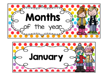 Calendar - Months of the year - Polka dots multi