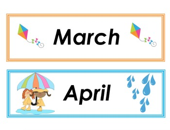 "Calendar ""Months of the year"" labels"