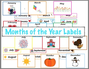 """Calendar """"Months of the year"""" labels"""