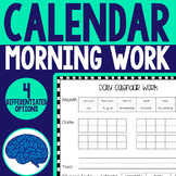Calendar Morning Work for K-2 (Differentiated)