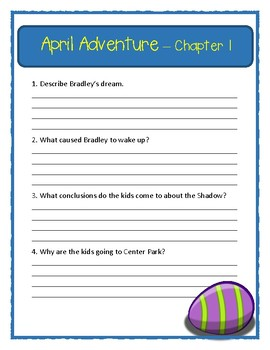 Calendar Mysteries APRIL ADVENTURE * Comprehension & Text Evidence