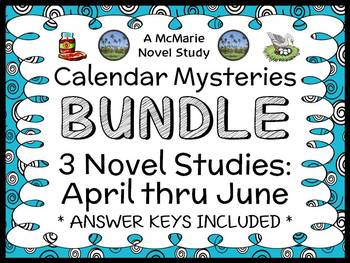 Calendar Mysteries: April thru June BUNDLE (Ron Roy) 3 Novel Studies