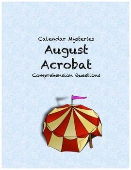 Calendar Mysteries: August Acrobat comprehension questions