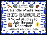Calendar Mysteries BUNDLE: July thru December (Ron Roy) 6 Novel Studies