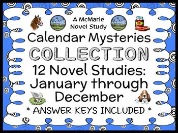 Calendar Mysteries COLLECTION (Ron Roy) 12 Novel Studies: January thru December