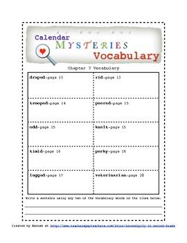 Calendar Mysteries February Friend ~ Ron Roy ~ Novel Study