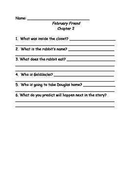 Calendar Mysteries February Friend comprehension questions