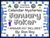 Calendar Mysteries: January Joker (Ron Roy) Novel Study / Comprehension (27 pgs)