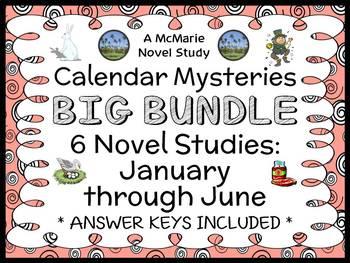 Calendar Mysteries: January thru June BUNDLE (Ron Roy) 6 Novel Studies