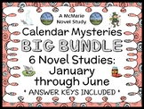 Calendar Mysteries: January through June BIG BUNDLE (Ron Roy) 6 Novel Studies