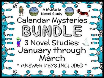 Calendar Mysteries: January thru March BUNDLE (Ron Roy) 3 Novel Studies