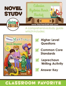 Calendar Mysteries March Mischief {Novel Study & Leprechaun Writing Activity}