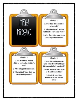 Calendar Mysteries MAY MAGIC - Discussion Cards