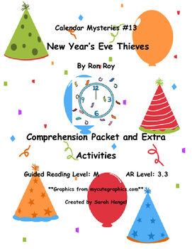 Calendar Mysteries New Year's Eve Thieves #13 By Ron Roy Comprehension Packet