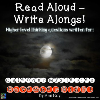 Calendar Mysteries, November Night Read Aloud Write Along