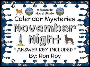 Calendar Mysteries: November Night (Ron Roy) Novel Study / Reading Comprehension