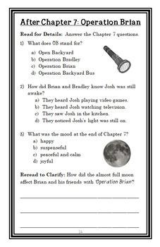 Calendar Mysteries: November Night (Ron Roy) Novel Study / Comprehension