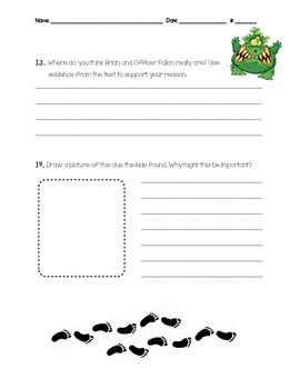 Calendar Mysteries October Ogre Comprehension Question Packet