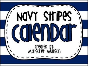Calendar - Navy Stripes