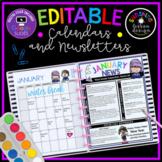 HUGE Calendar & Newsletter Editable Bundle. Print & Digita