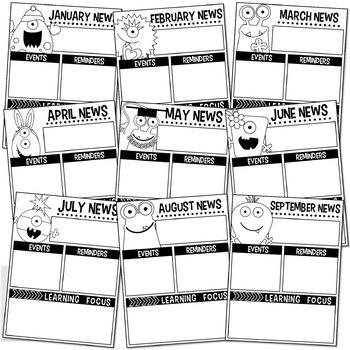 Calendar & Newsletter Template Bundle (Monster Edition)