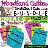 Calendar & Newsletter Template Bundle {Woodland Critters Edition}