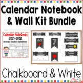 Calendar Notebook and Wall Kit Bundle Black and White 2018-2019