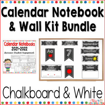 Calendar Notebook and Wall Kit Bundle Black and White