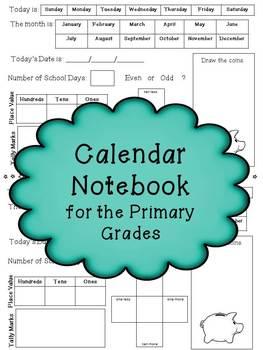 Calendar Notebook for the Primary Grades