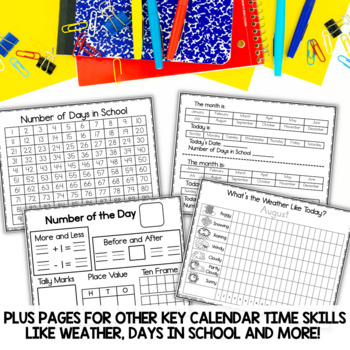Interactive Calendar Notebooks for All Year 2018-2019