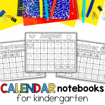 interactive calendar notebooks for kindergarten, first grade and special education.
