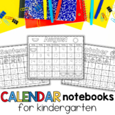 Interactive Calendar Notebooks for Kindergarten and First Grade 2019--2020