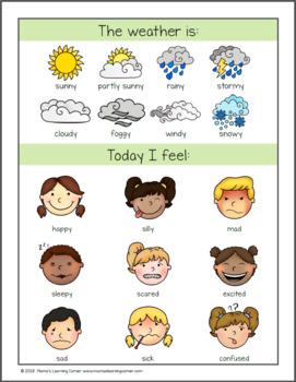 Calendar Notebooks for Preschool Kindergarten and First Grade 2018-2019