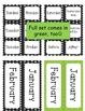 Calendar Cards - Nouns and Verbs Pattern THEME
