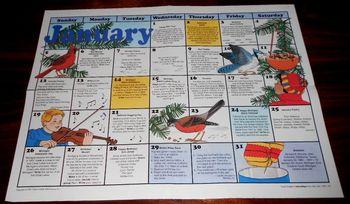 Calendar November & January Laminated 21 X 16 Writing Prompts/Activities Squares