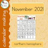 Calendar November - Print - North Hemisphere