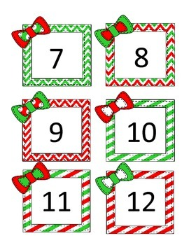 Christmas/December Calendar / Number Cards