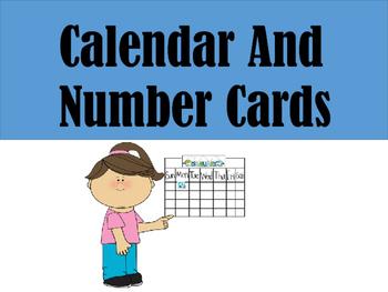 Calendar Number Cards