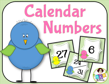 Calendar Numbers ● Number Cards ● Numbers 1-31 ● Counting ● Patterns